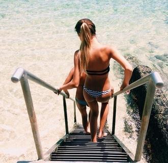 swimwear bikini bikini bottoms black white aztec black bikini white bikini aztec swimwear summer holidays