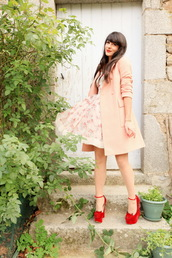 the cherry blossom girl,coat,shoes,dress