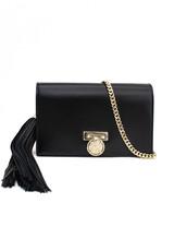 mini,clutch,leather,black,black leather,bag