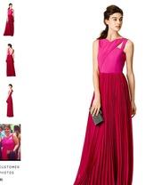 dress,sachin+babi,fuchsiacrossgown