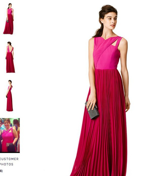 dress sachin+babi fuchsiacrossgown