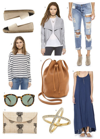 hello fashion blogger slip on shoes ripped jeans striped top bucket bag