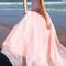 Circle maxi skirt - baby pink