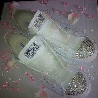 white white sneakers converse weddings bride bridesmaid swarvoski