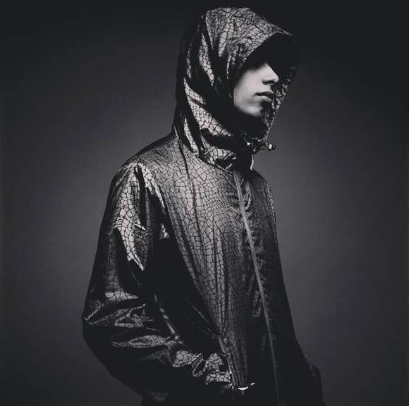 jacket windbreaker raincoat coat menswear mens jacket crocodile black