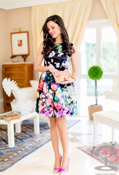dress colorful fliral