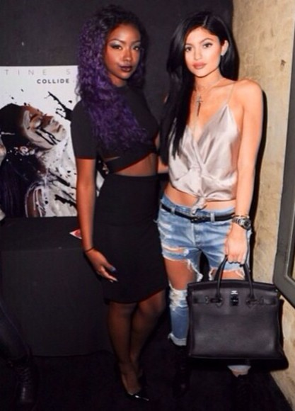 jeans ripped blouse kylie jenner kylie kendall and kylie jenner kardashians destressed