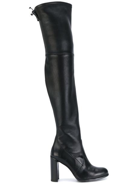 STUART WEITZMAN thigh-high boots high women leather black shoes