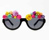 sunglasses,shades,floral,flowers,summer,color/pattern