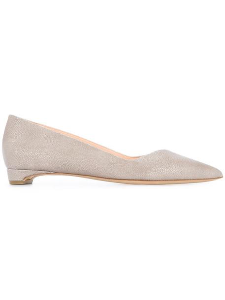 Rupert Sanderson women leather grey shoes