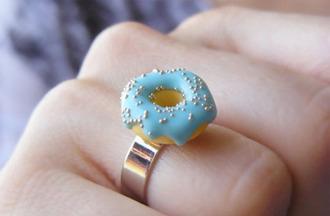 jewels ring dounuts nail accessories