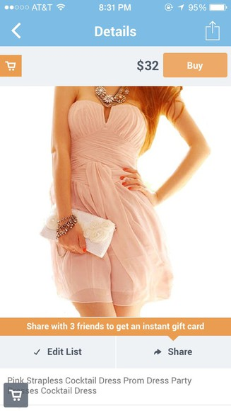 dress coral dress fashion homecoming dresses cute dress peach dresses strapless wedding dresses