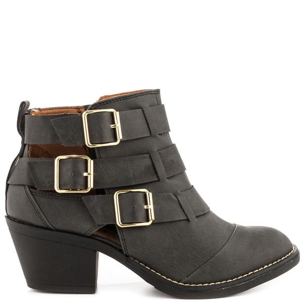 shoes boots black black boots buckles buckles buckle boots heels heel boots leather black high heel boots leather boots