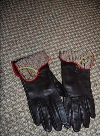 scarf dior rasta print lambskin gloves