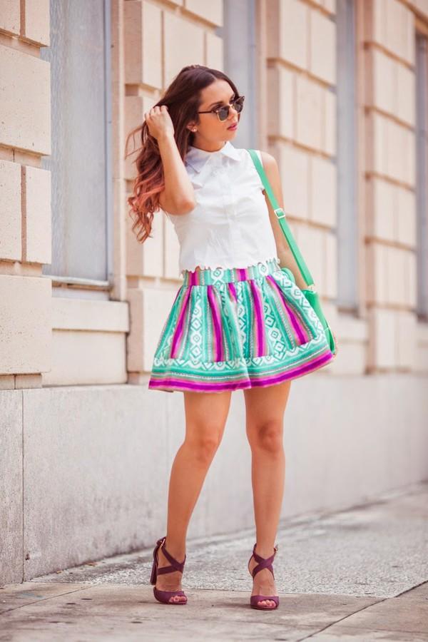 nany's klozet skirt top shoes bag sunglasses jewels