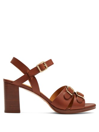 heel sandals leather sandals leather dark tan shoes