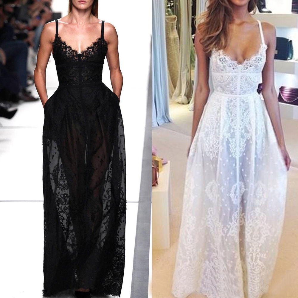 2014 Sexy Women Summer Boho Long Lace Evening Party Prom Dress Ladies Maxi Skirt