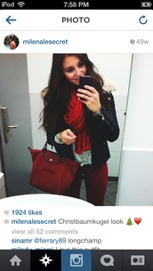 jeans,burgundy,red,deep red,skinny jeans,bag,jacket,scarf,shirt