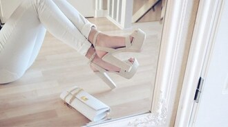 shoes nude high heels nude sandals nude white white high heels whites sandals sandals high heels summer summer shoes jeans