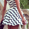 Nextshe 2014 black & white wave striped sleeveless a line dress-in dresses from women's clothing & accessories on aliexpress.com | alibaba group
