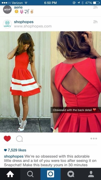 dress red dress casual dress casual cute high heels style striped dress streetwear cute dress