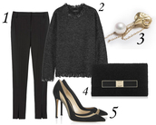 blame it on fashion,blogger,pants,charcoal,stilettos,knitted sweater,clutch,winter outfits,sweater,jewels,bag,shoes
