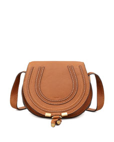 Marcie Small Crossbody Satchel Bag, Tan