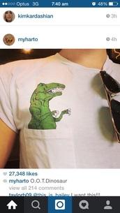 shirt,hannah hart,my drunk kitchen,youtube,myharto,dinosaur,t-shirt