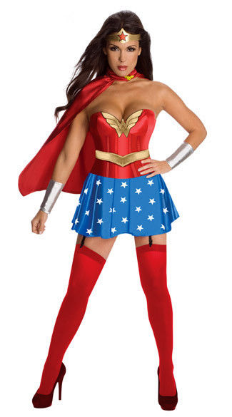 Wonder Woman Halloween Costume Adult DC Comics Cosplay Role Play SuperHero
