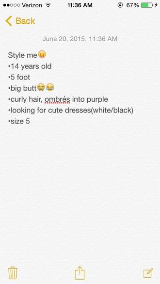 dress white dress black dress purple hair