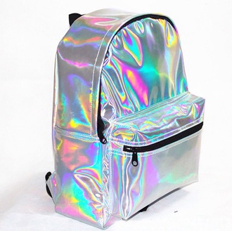 bag backpack 90s style alien space trendy teenagers back to school holographic tumblr