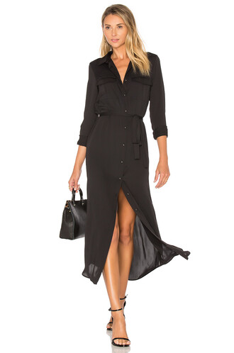 dress shirt dress long black