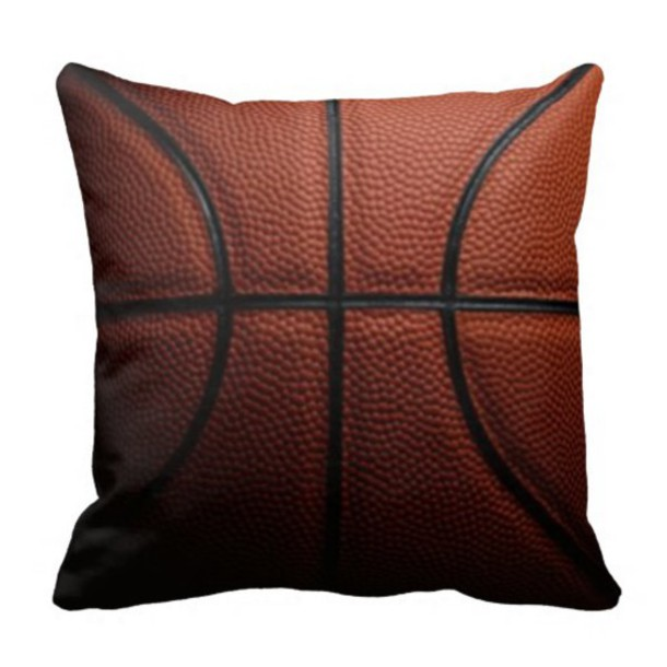 home accessory nba high school college pillow bedroom sport pillow basketball cool gifts idea zazzle basketball pillow