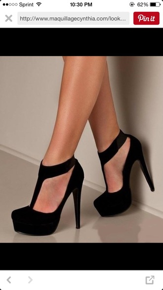 shoes black high heels