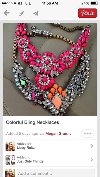neon necklace jewels jewelry diamonds bling sparkly