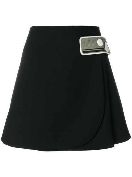 Prada skirt mini skirt mini women black silk wool