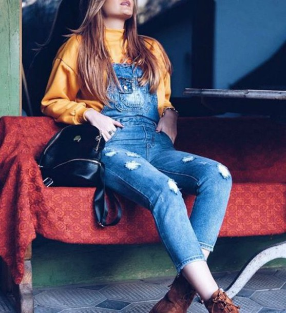 romper denim overalls jeans love lovely pretty hot amazing cool cute fashion  trendy fall outfits sexy