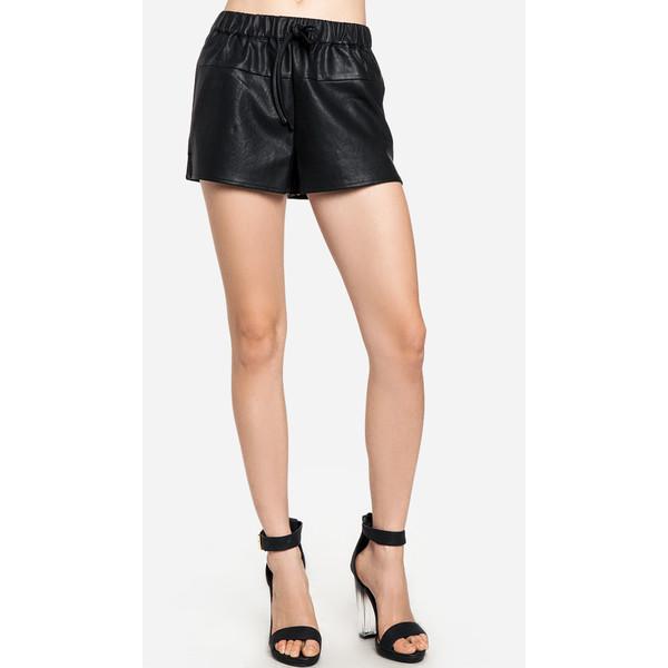 Flared Leatherette Shorts - Polyvore