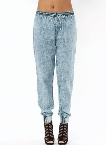 GJ | Acid Wash Joggers $40.30 in GREY LTBLUE - Jogger Pants | GoJane.com