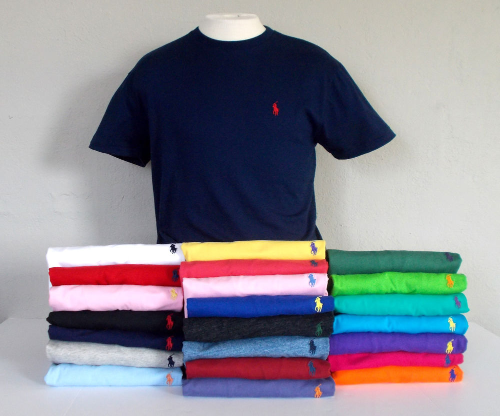 425667fd5136f POLO RALPH LAUREN Mens CREW NECK T-SHIRT SS Embroidered Pony S M L XL XXL