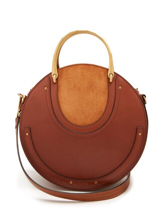 cross bag leather suede tan