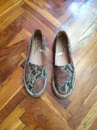 shoes nude summer blogger espandrilles snake print