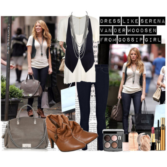 blake lively serena gossip girl serena van der woodsen shoes jacket jeans