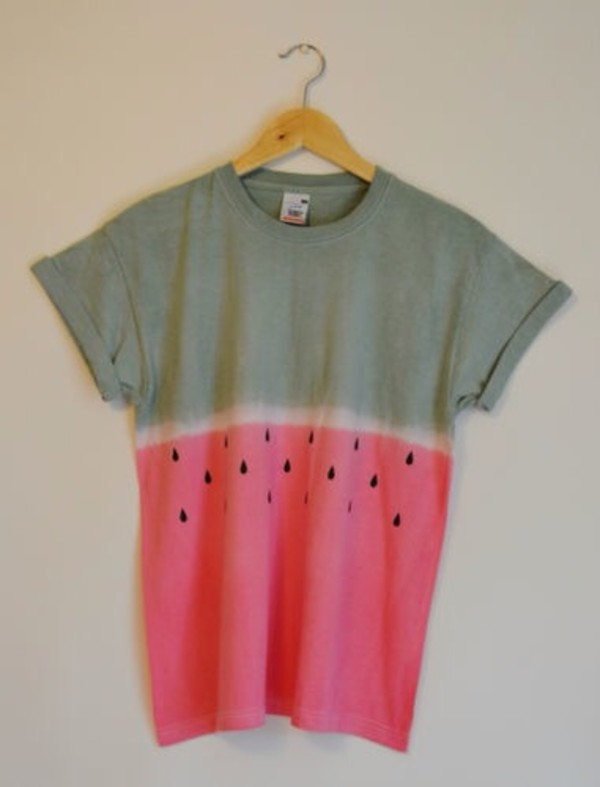 shirt watermelon print ombre
