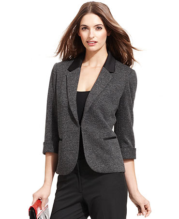 Tahari by ASL Tweed Blazer - Jackets & Blazers - Women - Macy's