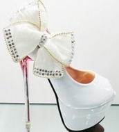 shoes,white heels,stilettos,bow high heels,diamonte,pumps,casual,casual shose