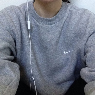 sweater sweatshirt grey sweater nike