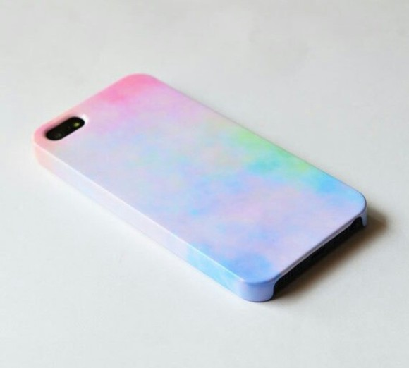 pastel tie-dye phone case clouds