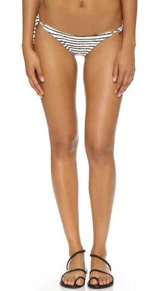 bikini bikini bottoms zebra white black swimwear