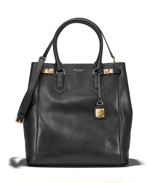 The Carlyle N/S Caviar Tote - Black Leather Tote Bag | Henri Bendel